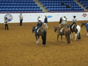 Waiting for the judges to place the Horsemanship event.