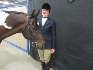 Smiles after a Top 10 finish in Huntseat Eq.