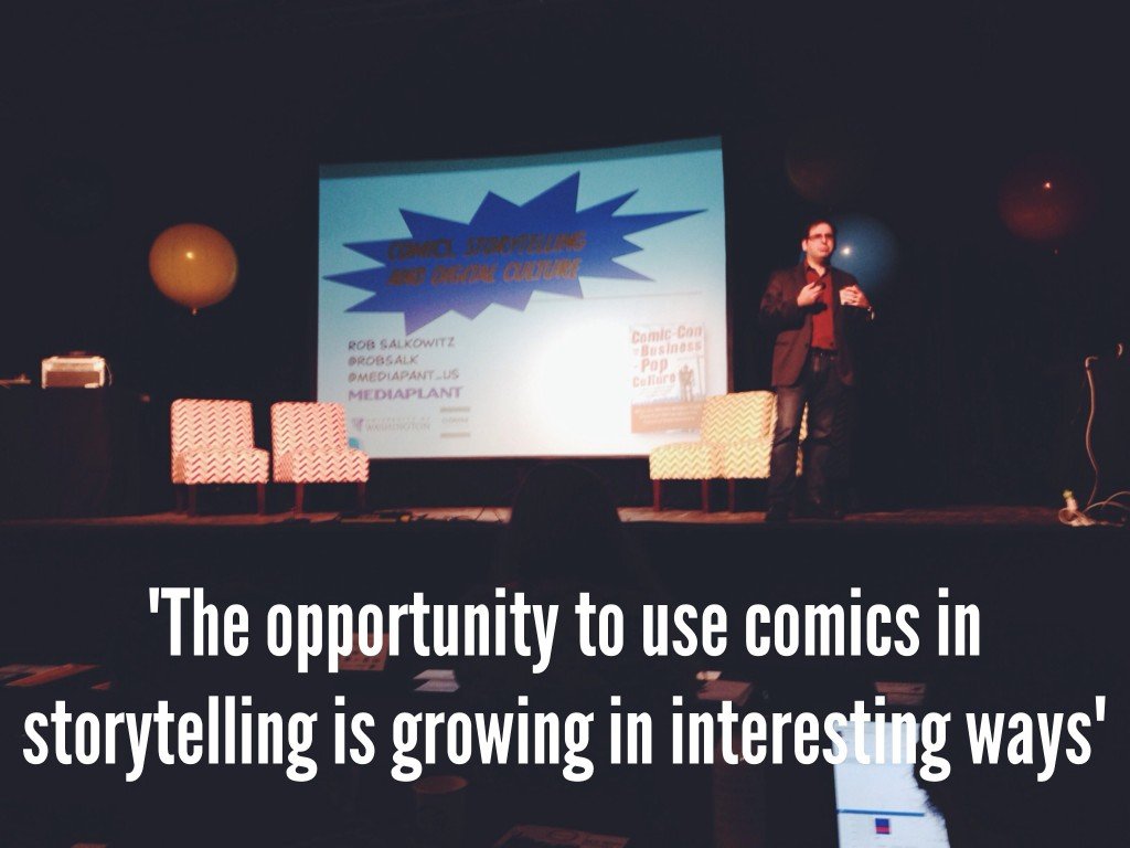 @robsalk talks how to use comics to enhance digital storytelling