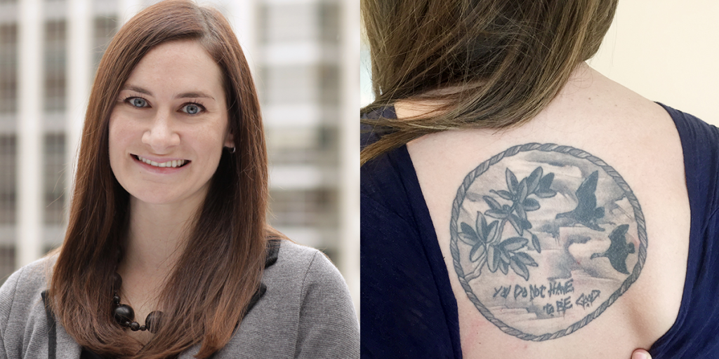 "Jen Humiston says, ""the most significant [thing] about a tattoo are the experiences associated with."""